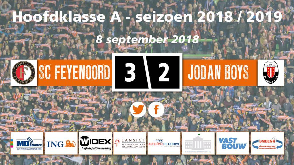 Jodan Boys vergeet zichzelf te belonen tegen SC Feyenoord