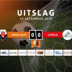 Jodan Boys en Capelle delen de punten in doelpuntloze remise