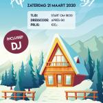 Zaterdag 21 maart Après Ski Party bij Jodan Boys