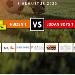 Jodan Boys 1 – SV Huizen 1 de Corona maatregelen.