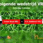 Volgende wedstrijd VR1