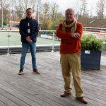 Minne van der Hooft en Ron van Genderen houden de moed erin.